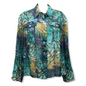 Ruby Rd Womens 24W Burnout Shirt Jacket